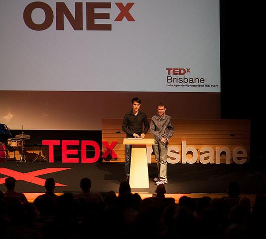 Michael Curran and James Teh at TedX Brisbane 2013