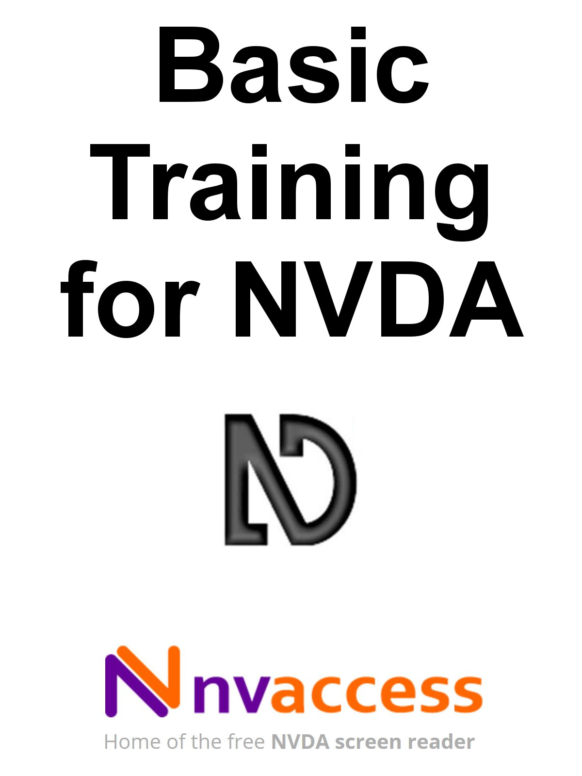 Basic Training for NVDA eBook cover