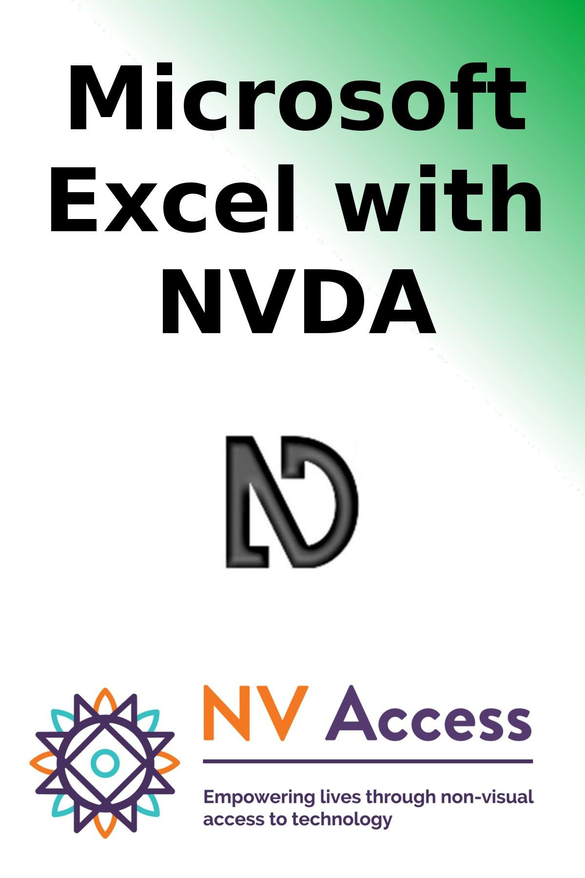Microsoft Excel training with NVDA cover