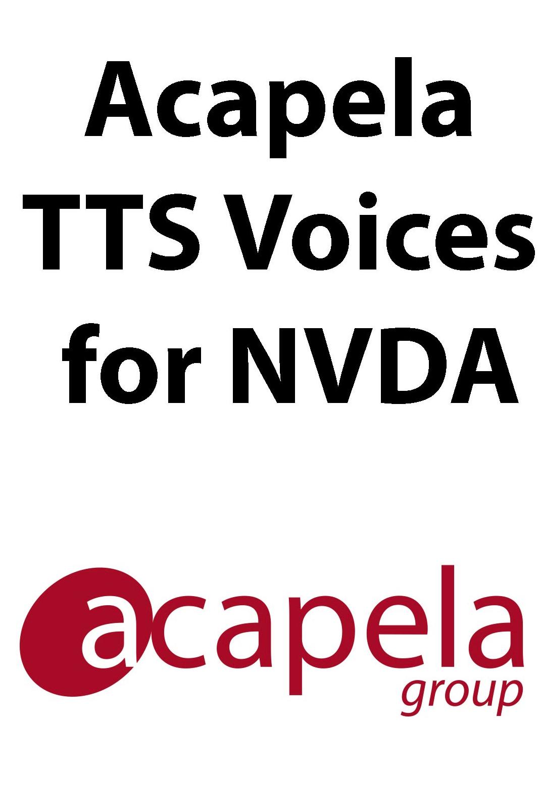 Acapela TTS For NVDA
