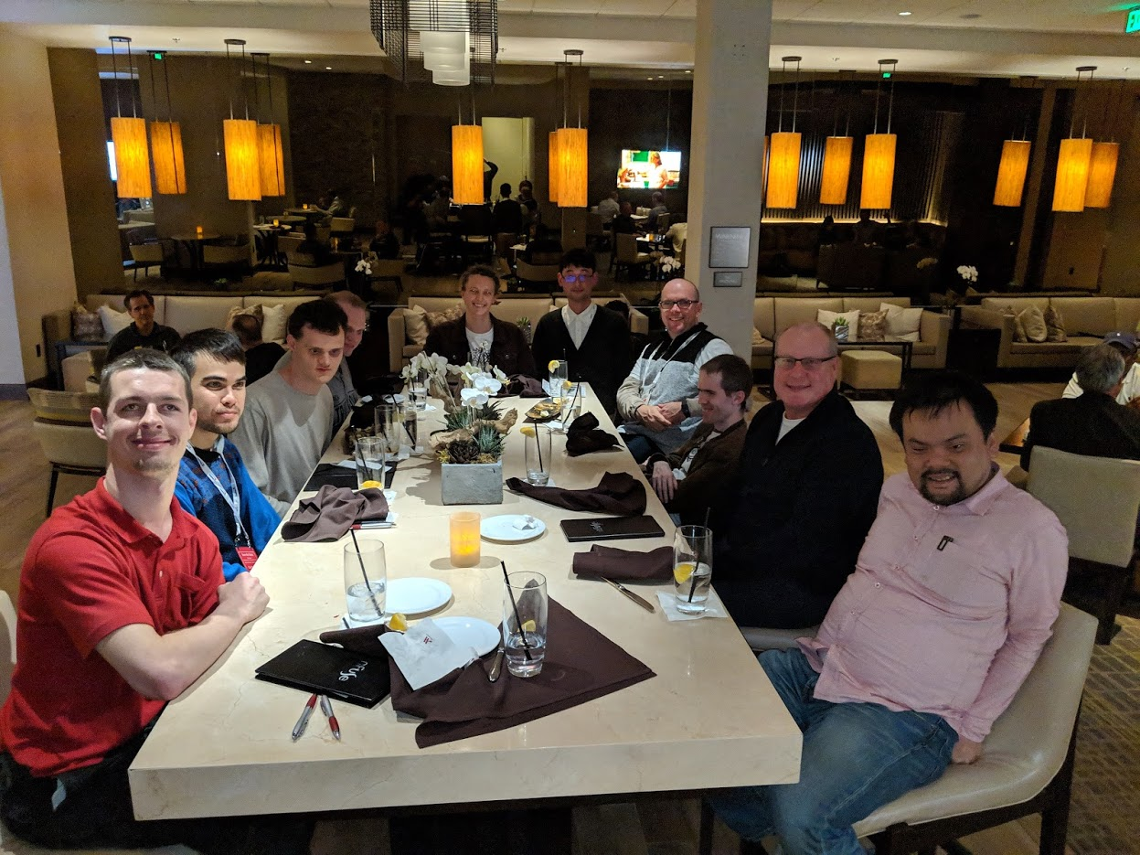 NV Access contributors dinner at CSUN 2019