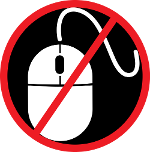 NoMouse logo (A mouse in a red circle with a red diagonal line through it)