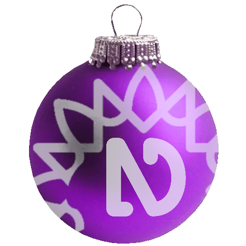 NVDA Christmas bauble (Purple with NVDA logo and sunburst)