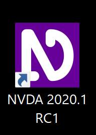 NVDA 2020.1 RC1 desktop icon