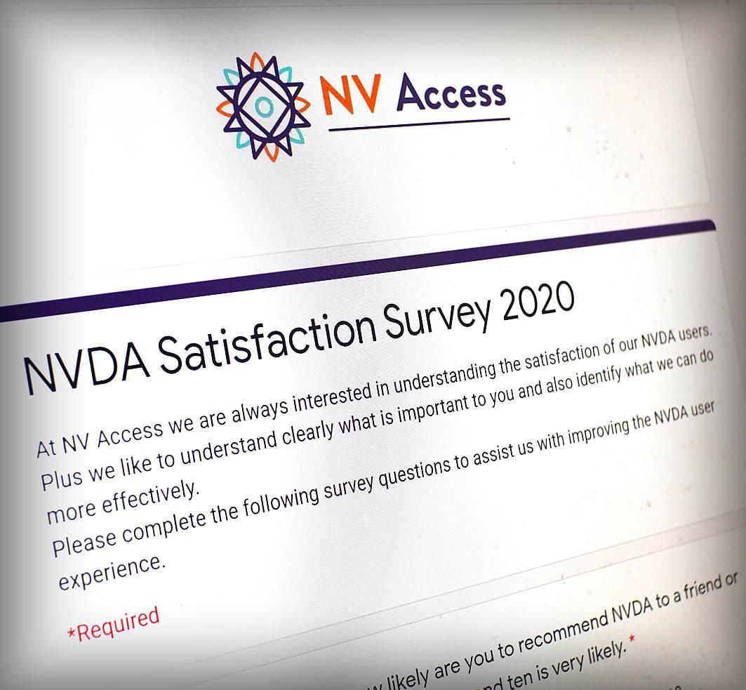 NVDA Satisfaction Survey 2020