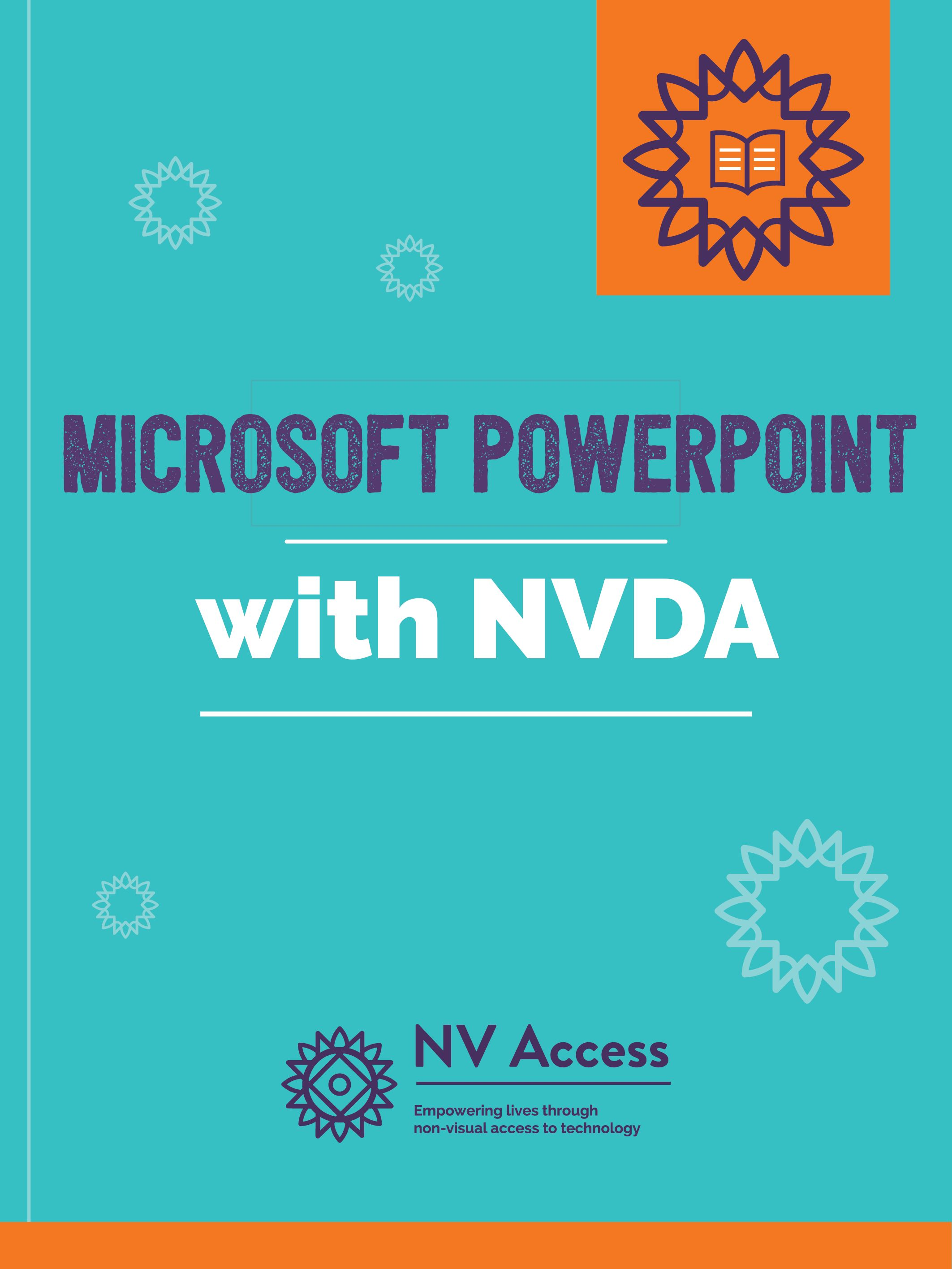 Microsoft PowerPoint with NVDA - Cover Image